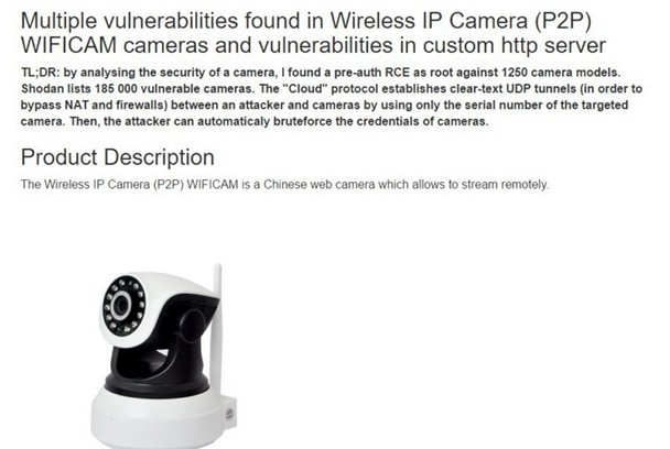 Wi-Fi Cameras Wide Open To Hacking