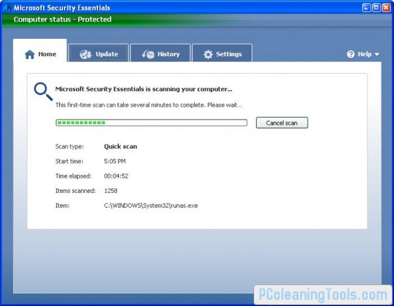 Microsoft Security Essentials Download for Windows 7 64/32 bit